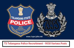 TS Police Notification 2015