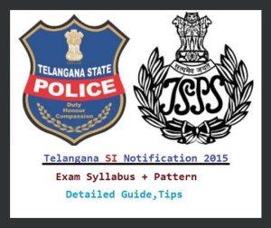 Telangana Police SI Notification 2015-16