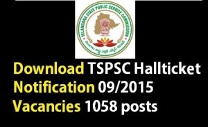 tspsc ae hall ticket/admit card 2015