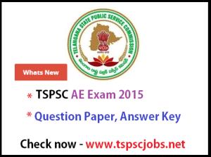 TSPSC AE Exam 2015 Preliminary key- Final Key