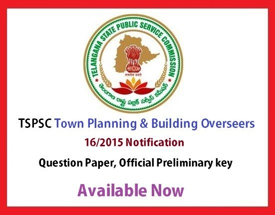 Town Planning and Building Overseers 2015 Final Key