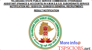 HMWSSB Assistant accounts finance afa merit list results