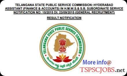 HMWSSB Assistant Finance Accounts notification – Merit list Results