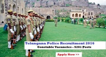TS Constable Notification 2016 Online Application