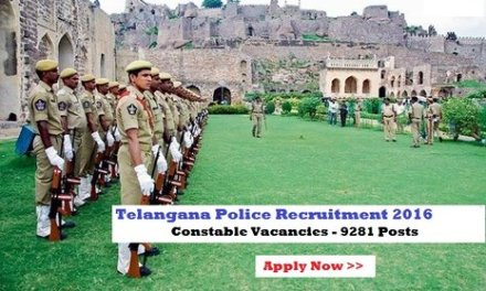Telangana TSPolice Constable Events Dates 2016 – List*