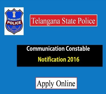 TS Police Constable Communication Notification 2016 – Apply now