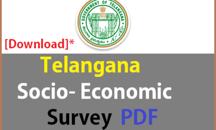 Telangana Socio Economic Survey 2016 PDF – Download Now