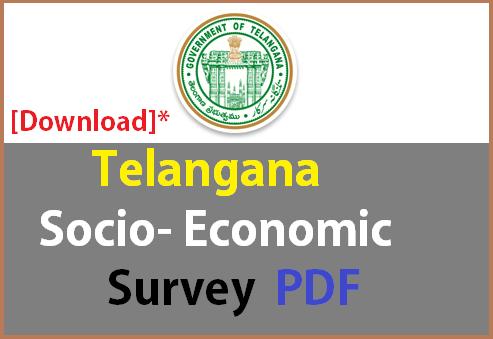 Download Telangana-SocioEconomic Survey pdf