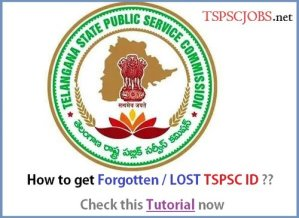 How to get TSPSC Lost ID - Thumbnail