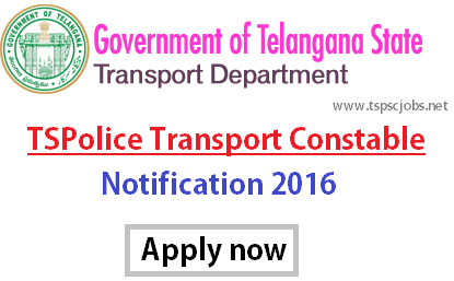 TSPolice TSPSC Transport Constable Notification 2016- Exam Date