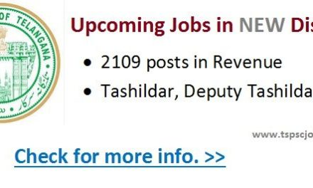 Telangana Government Jobs in New Districts – Upcoming Vacancies List-