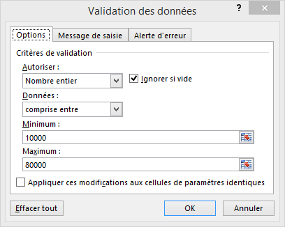 validation donnees