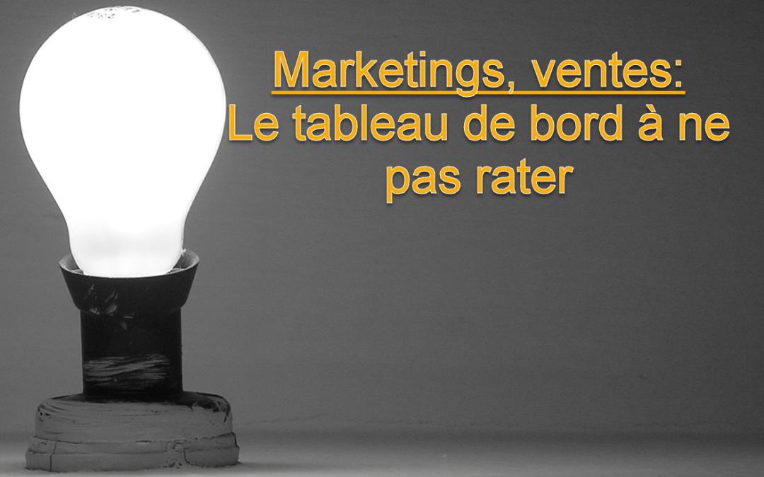 Marketing, ventes – le tableau de bord à ne pas rater