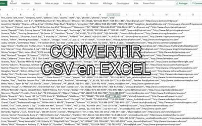 Comment convertir des fichiers csv en Excel (remplacer les virgules par des colonnes)