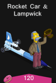 Rocketcar and lampwick