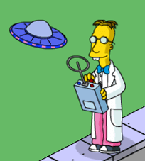 The Simpsons Tapped Out Professor Frink Testing Gizmo