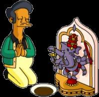 Apu Pray to Ganesh