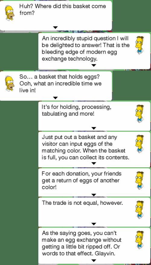 Basket dialog