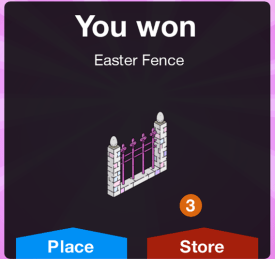 YOU WON easter fence