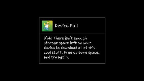 device full