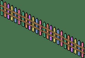 Pastel Fence