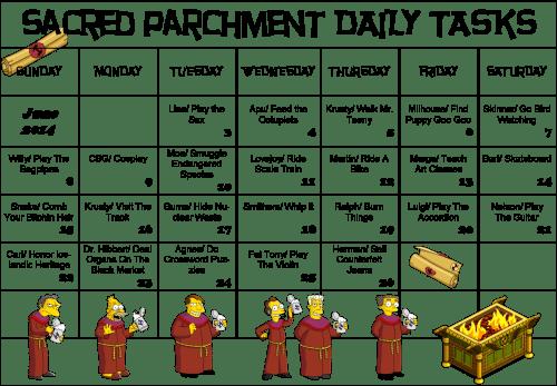 Daily Scroll Calendar
