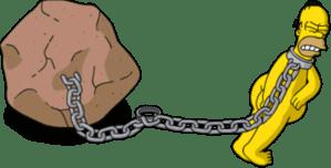 Homer pulling stone