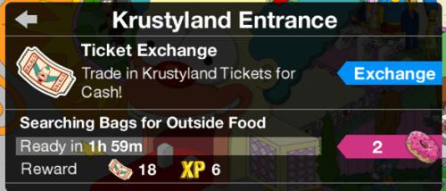 Krustyland Ticket Exchange
