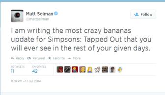 Matt Selman Tweet
