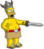 Homer Barbarian Commanding Troops