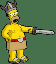Homer Barbarian Commanding Troops