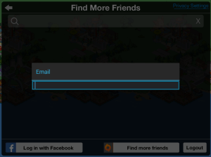 Find More Friends Search Bar
