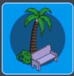 Palm Tree & Park Bench