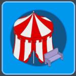 Pavilion Tent & Park Bench
