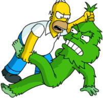 Grumple Fight Homer