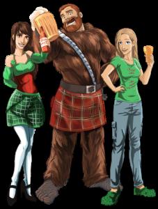 Alissa Bunny Wookiee St Patrick's Day