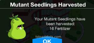 Mutant Seedlings Harvested Fertilizer