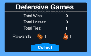 Defensive Games Tie Pop Up