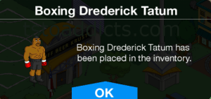 Placed In Inventory Boxing Drederick Tatum
