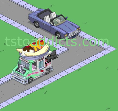 Ice Cream Truck on the Road