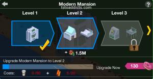 Modern Mansion Levels 1 2 3