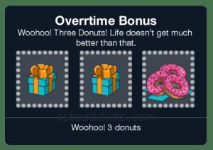 Overtime Pennant Bonus Won 3 Donuts