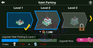 Valet Parking Level 1 2 3