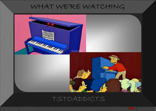 Blue Piano Simpsons