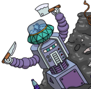 Clank Clank You're Dead Robot TSTO