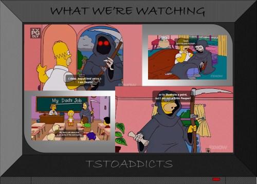 Grim Reaper Homer Simpsons