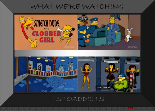 Stretch Dude Clobber Girl Collector Xena Mylar Simpsons