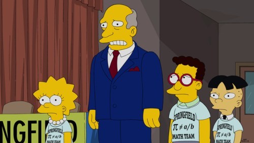 THE SIMPSONS: The Springfield Elementary mathletes team faces tough competition in the all-new ÒMathleteÕs FeatÓ season finale episode of THE SIMPSONS airing Sunday, May 17 (8:00-8:30 PM ET/PT) on FOX. THE SIMPSONS ª and © 2015 TCFFC ALL RIGHTS RESERVED.