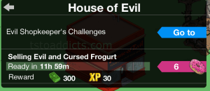 Shopkeeper Challenge House of Evil without
