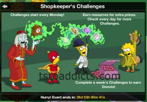 Shopkeeper Challenge Info Screen